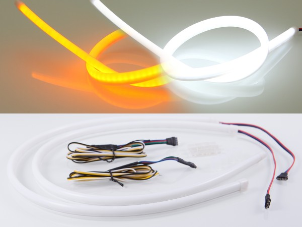 LED Stripe, 50cm, SMD LEDs, 12V, weiss, orange