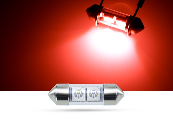 32mm 2x3-Chip SMD LED Soffitte Innenraumlicht, rot