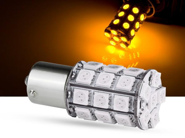 30er SMD LED BAU15s, LEDPY21W, orange, offroad