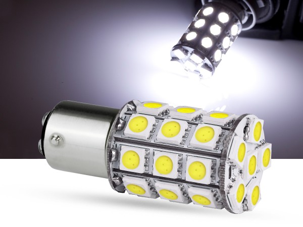 30er SMD LED Spot, BAY15d LEDP21/5W, weiss, offroad