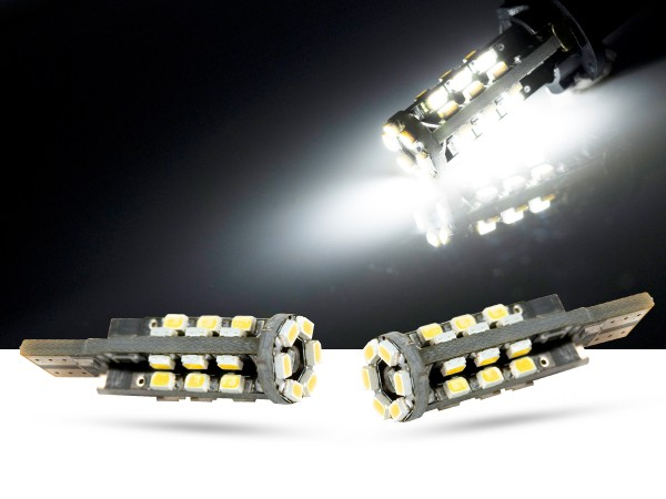30er mini SMD LED, Glassockel T10 LEDW5W, CAN-bus, 5000K, offroad